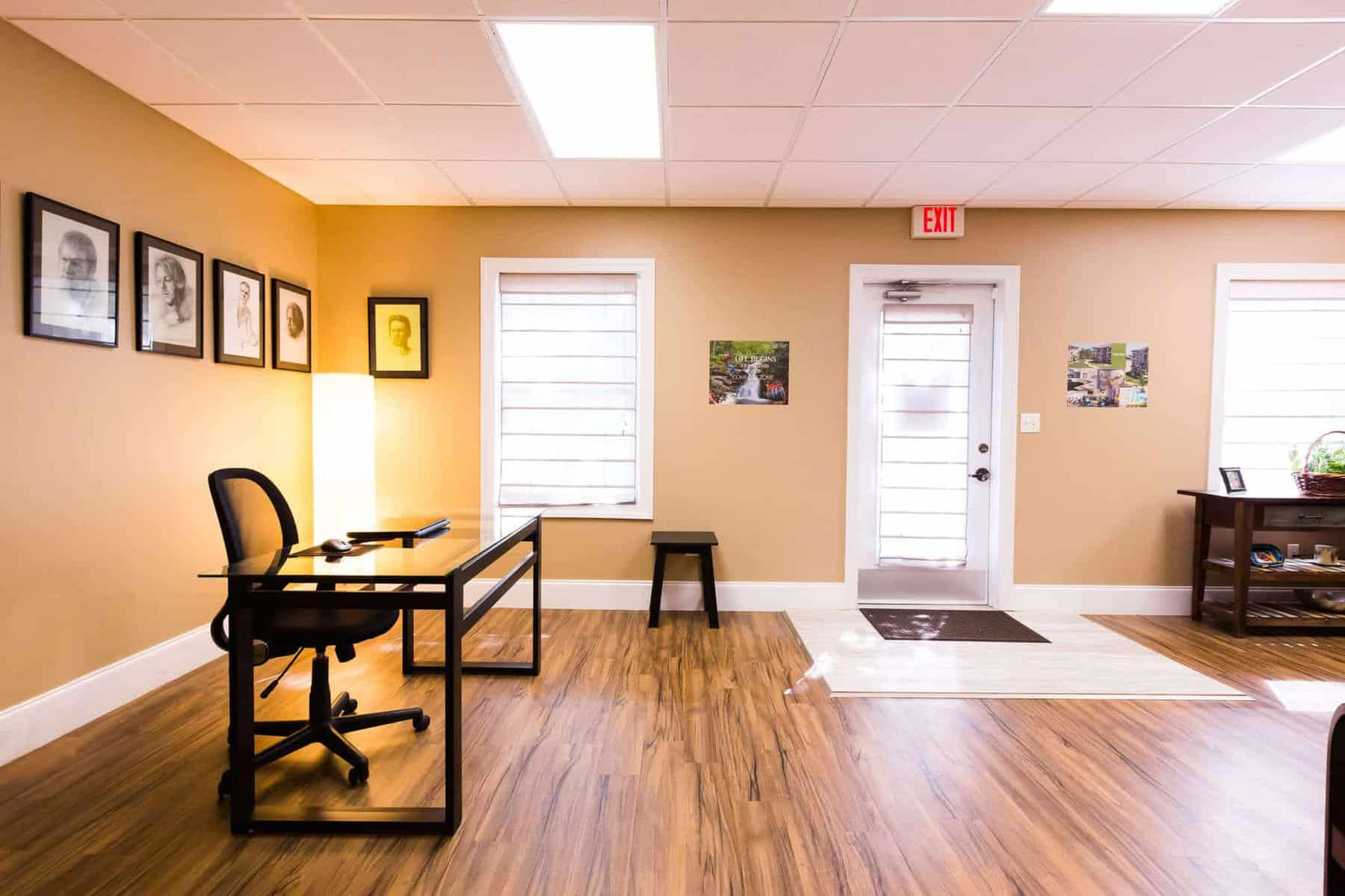 Gallery office floor Layout Next Step Asheville Office Next Step Recovery Next Step Recovery Office Gallery